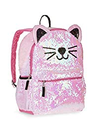 Kitty Cat Sequin Backpack with 2 Way Sequins