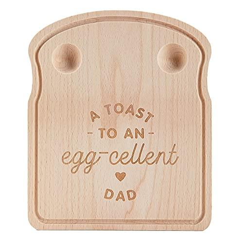 Vatertagsgeschenk, Frühstücksbrettchen aus Holz, Brotzeitbrett mit Gravur, Geschenk für Papa, LustigesGeschenk für Männer, A Toast to an Egg-cellent Papa