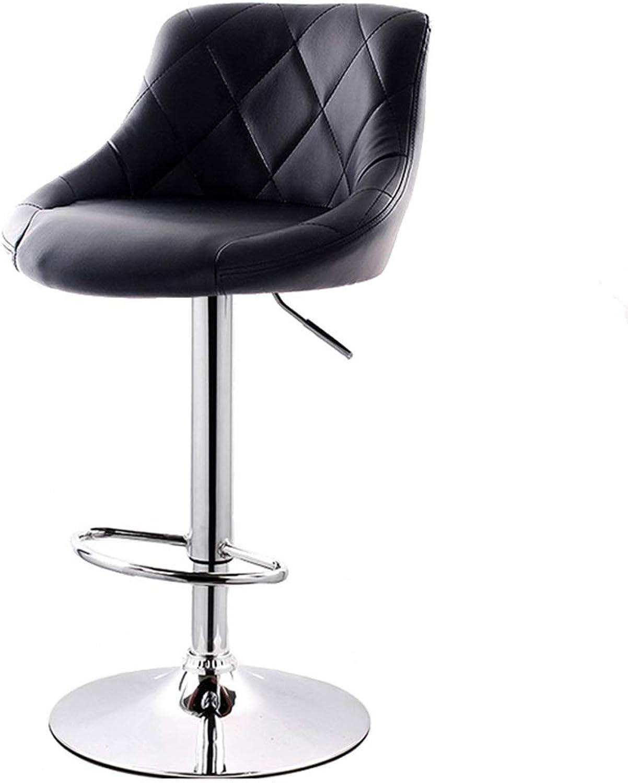 Bar Chair Simple Lifting Bar Chair Cash Register High Stool European redating Back Stool - High Section (color   Black)