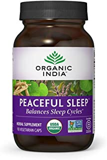 Sponsored Ad - Organic India Peaceful Sleep Herbal Supplement - Supports Sleep Cycles, Vegan, Gluten-Free, USDA Certified ...