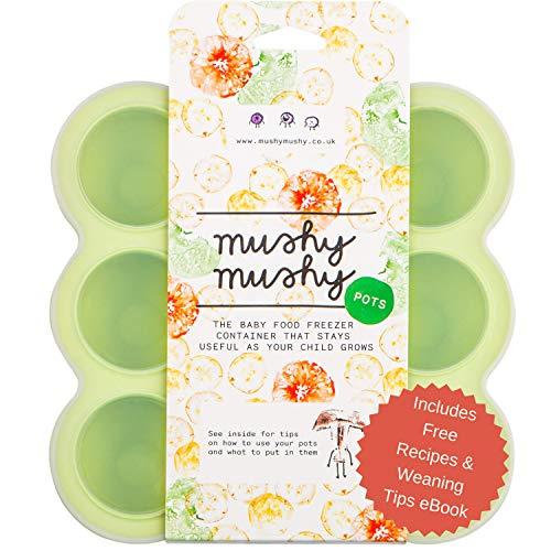 Envases para Alimentos de Bebés Mushy Mushy - 9 Envases Fácilmente...