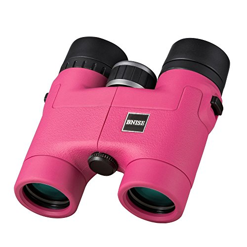 BNISE - 8X32 Compact Binoculars for Bird Watching - Lightweight Magnesium Alloy Body - FMC Optics and Phase Coated BaK-4 Prisms - Bright and Undistorted Image - Pink
