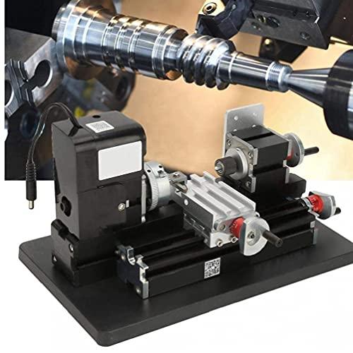 Mini Metal Lathe Z20002m 24 W met 20000RPM Motor 100-240 V DIY Works Tool Zwart DIY Draaibank Machine Mini Metalen Lathe…