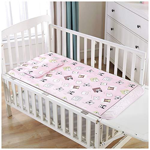 YOUCAI Babymatratze, Bezug Waschbar, Sommer Schlafmatte Bettwäsche Wohnheim Schlafzimmer Matratzenschoner Pink 2 60x120cm