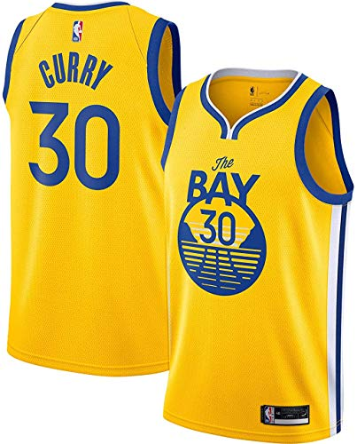 Stephen Curry Golden State Warriors #30 Yellow Youth 8-20 Statement Edition Swingman Jersey (14-16)