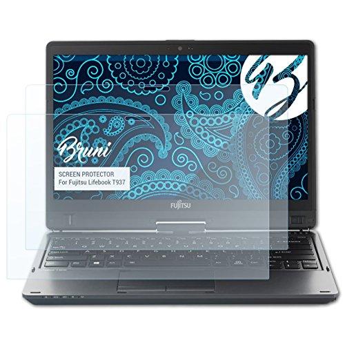 Bruni Schutzfolie kompatibel mit Fujitsu Lifebook T937 Folie, glasklare Bildschirmschutzfolie (2X)