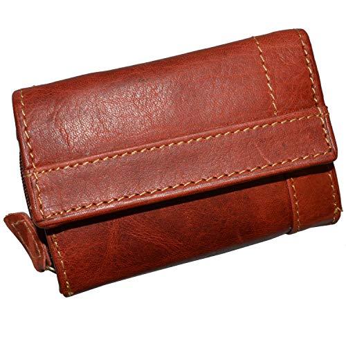 Sportlich handliche Geldkarten Geldbörse mit Münzfach und RFID Schutz (rot)