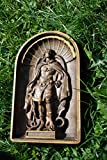 Christian Icon Archangel Michael Wood Carved Religious Wall Hanging Art Work