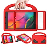 LEDNICEKER Kids Case for Samsung Galaxy Tab A 2019 8.0 Inch SM-T290 / T295, Built-in Screen Protector Shockproof Handle Friendly Stand Kids Case for Galaxy Tab A 8.0 2019 Without S Pen Version - Red