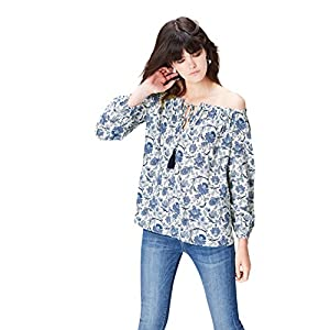Marca Amazon - find. Top Estilo Bardot con Lazada para Mujer | DeHippies.com