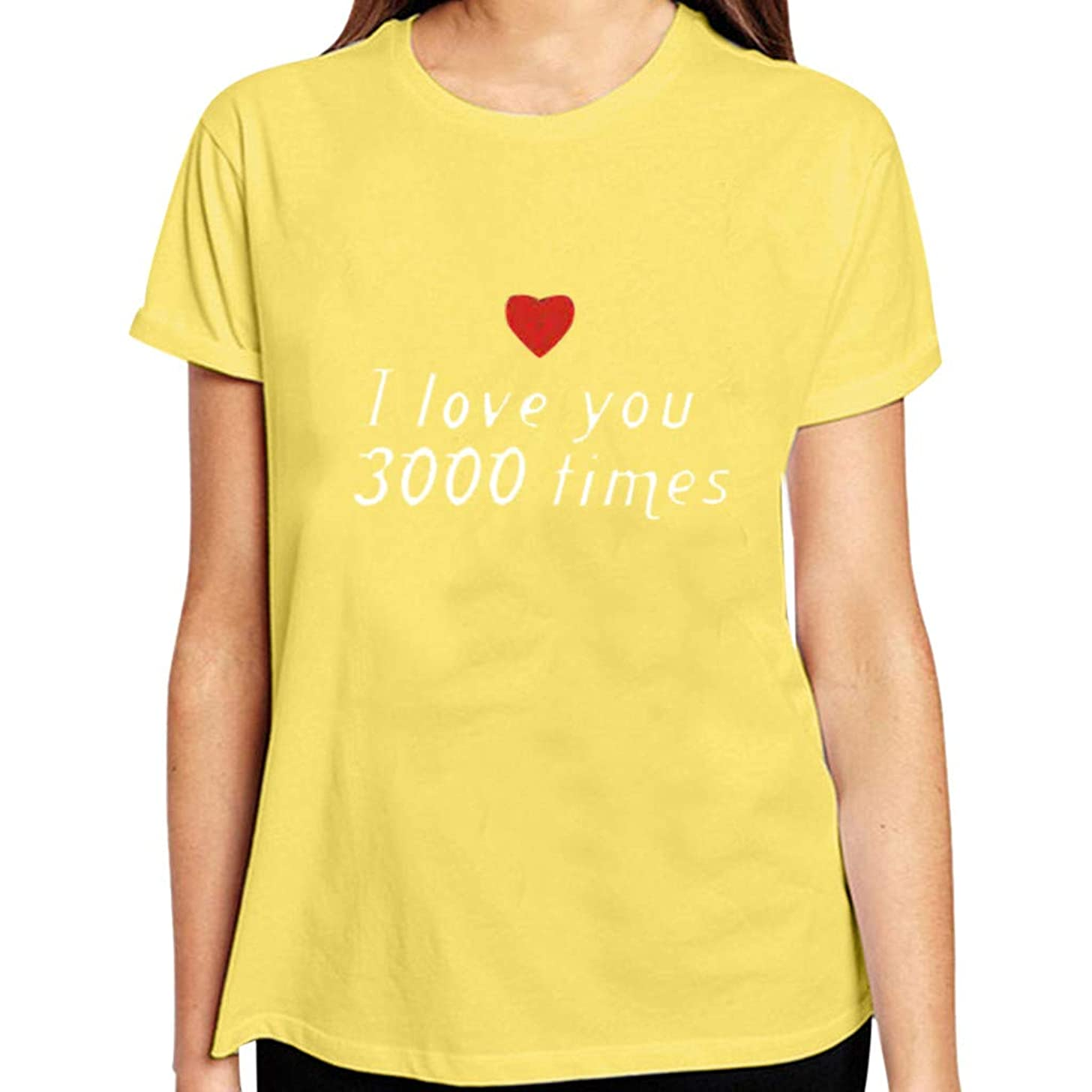 Fashion Couple T Shirt I Love You 3000 Women Men Tops Short Sleeve Love Heart Print Casual Blouse Top for Lovers Gift