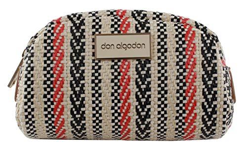 Don algodón Urban, Bolsa de viaje neceser mujer, Naranja, 18x10x3 cm