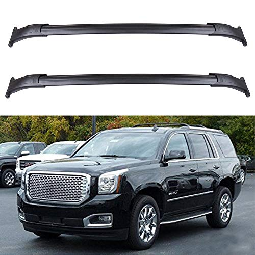 ECCPP Roof Top Cross Bar Set Roof Rack Luggage Cargo Carrier Rails Fit for 2015-2020 Cadillac Escalade/Cadillac Escalade ESV/GMC Yukon/GMC Yukon XL,Aluminum