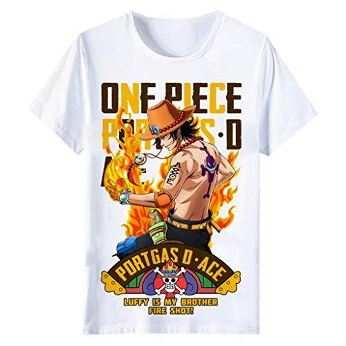 Camiseta One Piece, 3D Luffy Zoro Ace Law Anime Cosplay T-Shirt Moda...