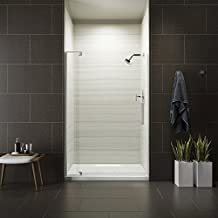 KOHLER K-707551-L-SHP Revel Shower Door, 70 x 43-1/8 x 48, Bright Polished Silver