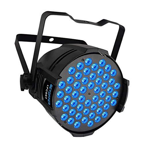 BETOPPER Luces de Discoteca Luces de DJ 54X3W RGB DMX512 LED Par Lampe Luz LED iluminación de escenario profesional para dj discoteca fiesta boda Church Música en vivo Show Club, etc
