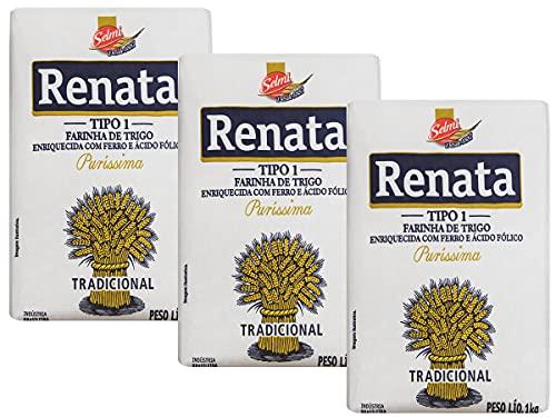 Kit 3 Farinha de Trigo Renata Puríssima Tradicional 1kg