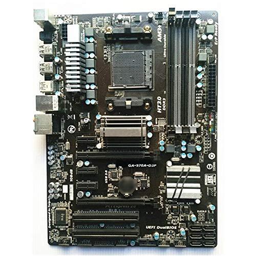 XCJ Placa Base Gaming ATX Ajuste para Fit For Gigabyte GA-970A-D3P Placa Base De Escritorio Original 970A-D3P Fit para Fit For AMD 970 Socket AM3 AM3 + DDR3 Placa Madre
