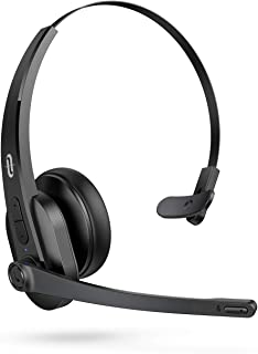 $36 » TaoTronics Trucker Bluetooth Headset with Microphone, Wireless Headset Noise Cancelling Mic, On Ear Bluetooth Headphones Noise Reduction, Bluetooth 5.0, 34H for Truck Driver Office Call Center Skype