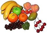 Set per decorazione composto da 18pezzi artificiali di frutta finta realistica