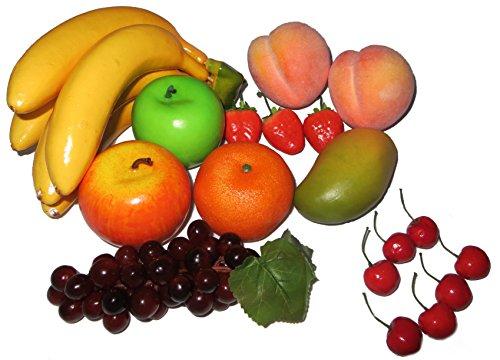 rukauf Deko Früchte Mix künstlich 18 Stück Fruits Set