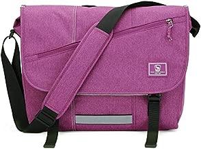 OIWAS Travel Messenger Bag for Women 15.6 Inch Laptop Satchel School Briefcase Crossbody Shoulder Computer Large Work College Men Teens Purple