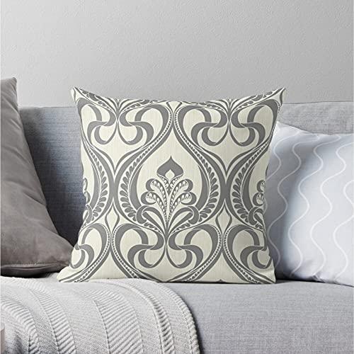 Funda de almohada para mamá y papá Art Deco, gris y beige, fundas de almohada, fundas de cojín disponibles en tamaños '12 x 12 pulgadas Funda de cojín sofá cama