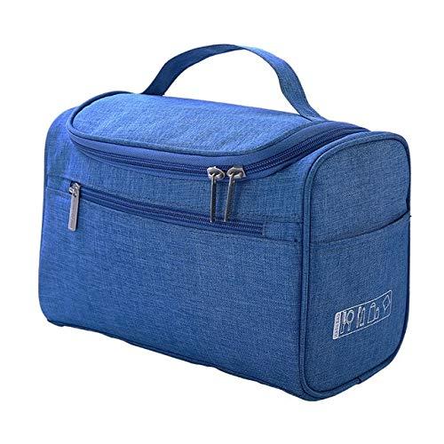 BLI Double Zipper Female Cosmetic Case Travel Storage Bag Portable Beautician Essential Ladies Cosmetic Bag Blue