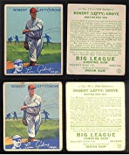 1934 Goudey Regular (Baseball) Card# 19 Lefty Grove of the Boston Red Sox VG Condition