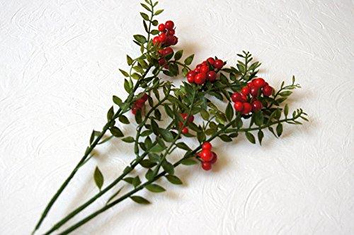 tatjana-land-deko 3 St. Kunstzweig Beerenzweig Kunstblumen künstlichen Beeren Frühling Rot Blau (B 01)