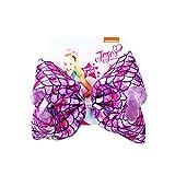 JoJo Siwa Bows, CREATESTAR Ribbon Hair Bows for Girls 8 Inch Large Hair Bow Alligator Clips Hair Accessories Mermaid Design Best Xmas Gift