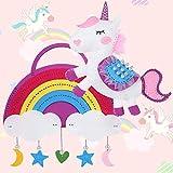 Tacobear Unicorno Giocattoli Arcobaleno Unicorno Borsa Kit da Cucito per Bambini Giocattoli in Feltro Lavoretti Creativi Natale Compleanno Unicorno Regalo per Bambini 8 9 10 11 12 Anni