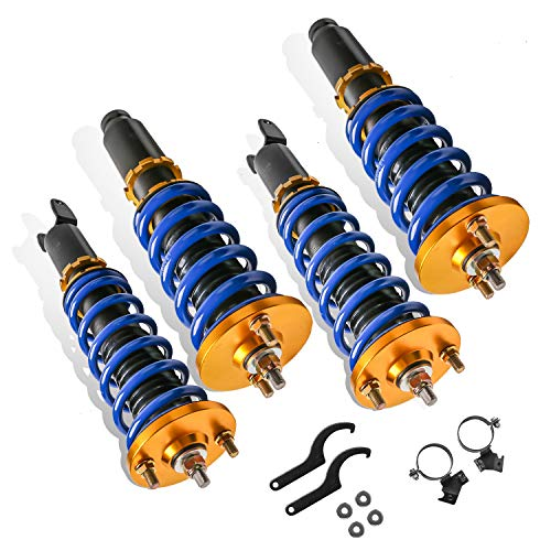 MOSTPLUS Adjustable Height Coilovers Struts Compatible for 1994-2001 Acura Integra /1992-2000 Honda Civic /1993-1997 Honda Civic del Sol Shock Absorber Assembly (Set of 4)
