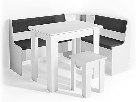 Vicco Corner Seating Set Roman Dining Room Set Corner Bench Seating Set Table Stool Amazon De Home Kitchen