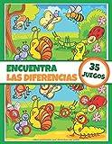 Encuentra las diferencias - 35 juegos: Libro de actividades para niños - Libro de juegos - A partir de 5 años