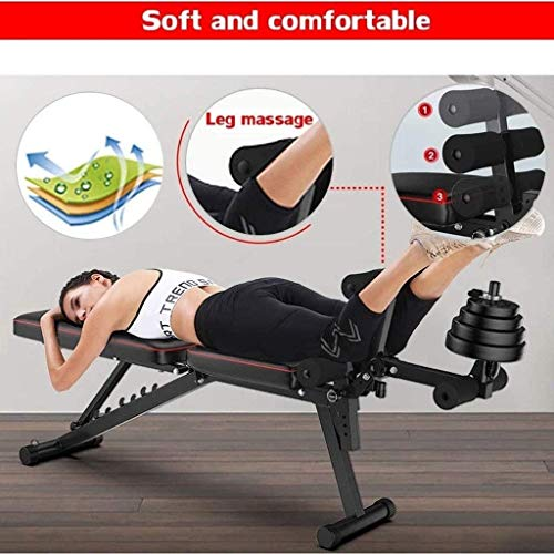 JYKJ Multi-Function Fitness Bench, Weight Bench with Leg Extension and Leg Curl, Adjustable Workout Bench, Dumbbell Bench Home Gym Equipment for Men Women