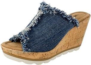 Amazon.com: Women's Blue Jean Wedges