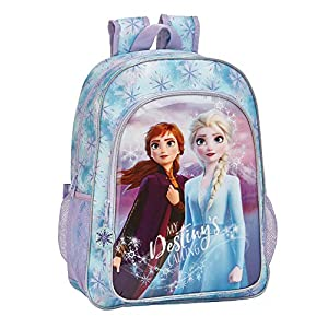 51f6G5Jr3qL. SS300  - Frozen II Mochila Grande Adaptable a Carro, Multicolor, Única