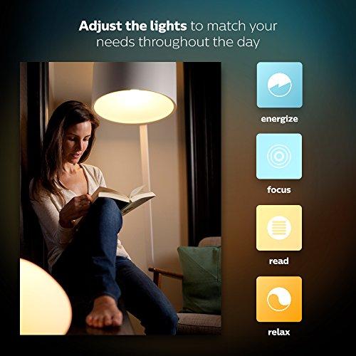 Philips Hue LED Lampe E27, 3. Generation, Einzellampe, dimmbar, 16 Mio Farben, app-gesteuert - 9