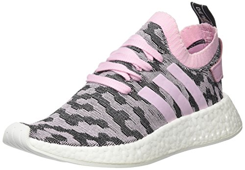 adidas Damen NMD_R2 Primeknit Sneakers, Pink (Wonder Pink F10/wonder Pink F10/core Black), 41 1/3 EU