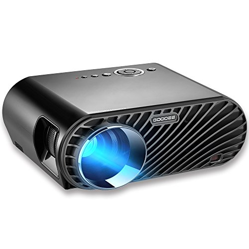 """Projector, GooDee 3200 Lumens Video Projector 180"""" HD LCD Movie Projector with 1280x800 Native Resolution Support 1080P Fire TV HDMI VGA USB"""
