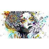 Póster de arte de seta de chica mural, pintura de tela de seda, carteles impresos para sala de estar, decoración del hogar, cuadro de pared-60X80Cmx1 sin marco
