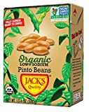 Jack's Organic Pinto Beans – Packed with Protein and Fiber, Heart Healthy, Low Sodium, Non GMO, BPA Free, Ready-to-Eat, 100% Sustainable Packaging with Easy Open Tearstrip, [8 Pack of 13.4oz cartons]
