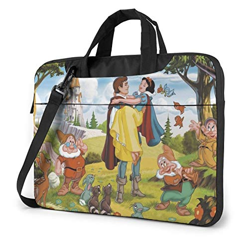 White Snow and Seven Dwarfs Laptop Sleeve Bag Case 13 inch MacBook Air Pro Notebook Sleeve Case Portable Briefcase Tote Cases