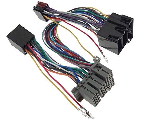 Parrot THB Adaptateur Bluetooth ISO Fiche Câble faisceau de câbles compatible avec Audi Opel Seat Skoda VW