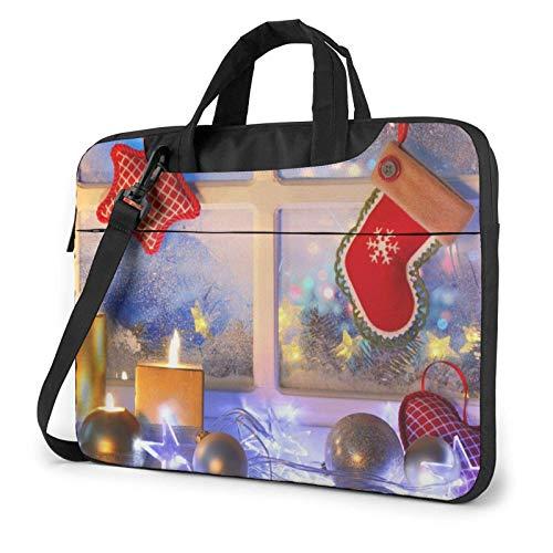 Los Ornamentos de la Navidad Imprimieron el Bolso de Hombro del Ordenador portátil, maletín del Bolso de Mensajero del Negocio del Bolso de la Caja del Ordenador portátil