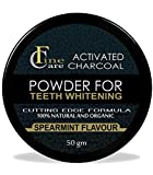 FINECARE Charcoal Powder With Activated Charcoal of Nataural Coconut for Teeth Whitener-Effective Remover Tooth Stains for a Healthier Whiter Smile 50gm
