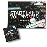 DENKRIESEN Stadt Land VOLLPFOSTEN - JUNIOR-Duo - Das Kartenspiel und der Spielblock - Junior Edition -