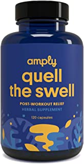 Amply Blends | Quell The Swell | Herbal Supplement | Post-Workout Relief Capsules | 120-Count