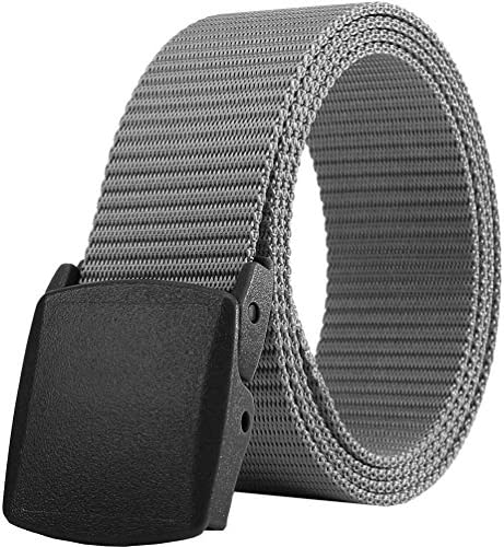 Mens Belt Web Nylon Webbing Canvas Army Belt with Plastic Buckle Breathable for Work Travel product image